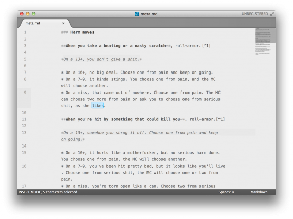 Sublime Text 2 + Markdown Editing