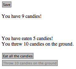 You have eaten 5 candies!