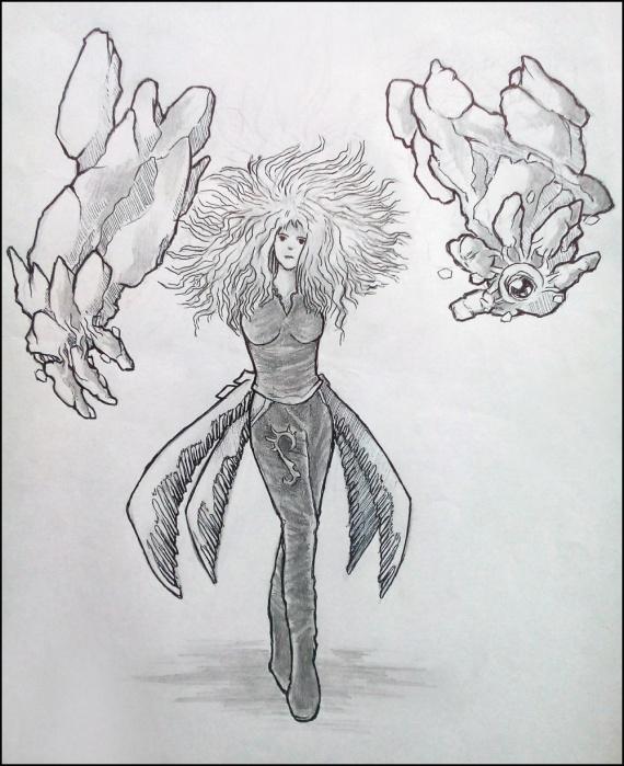 Концепт девушки миксера из расы дзен-чи