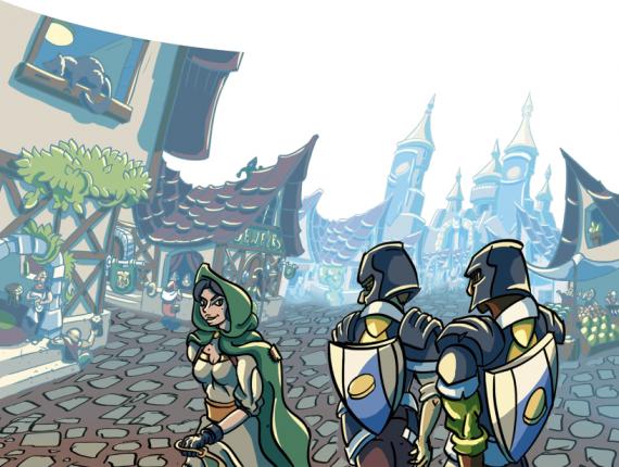 Гудкасл - город приключенск региона (иллюстрация из модуля)
