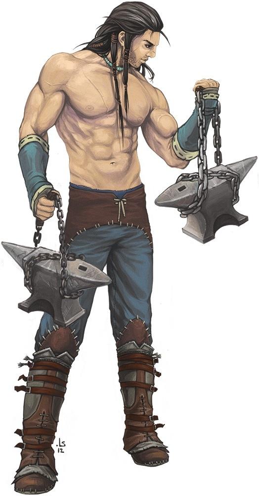 Валерос осваивает технику нового оружия - боевые наковальни. Все по заветам Имажинарии!