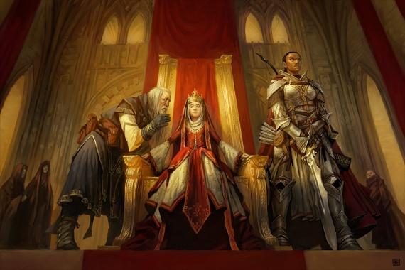 Царевну никак не отпускает, и маг пытается ей помочь заклятьем