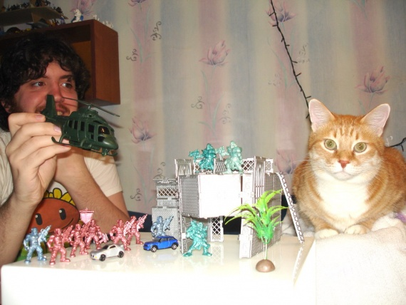босс-кот против босса-вертолёта