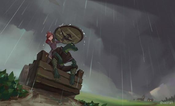 Арт созданный одним из игроков по событиям первой сессии
