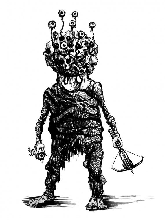 Пример рисунка монстра