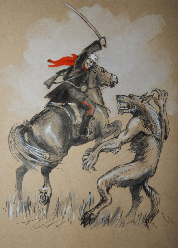 бой казака с волкодлаком